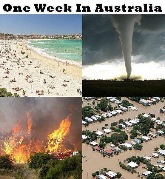 Our weather can sometimes be wild… | 49 Things All Australians Know To Be True