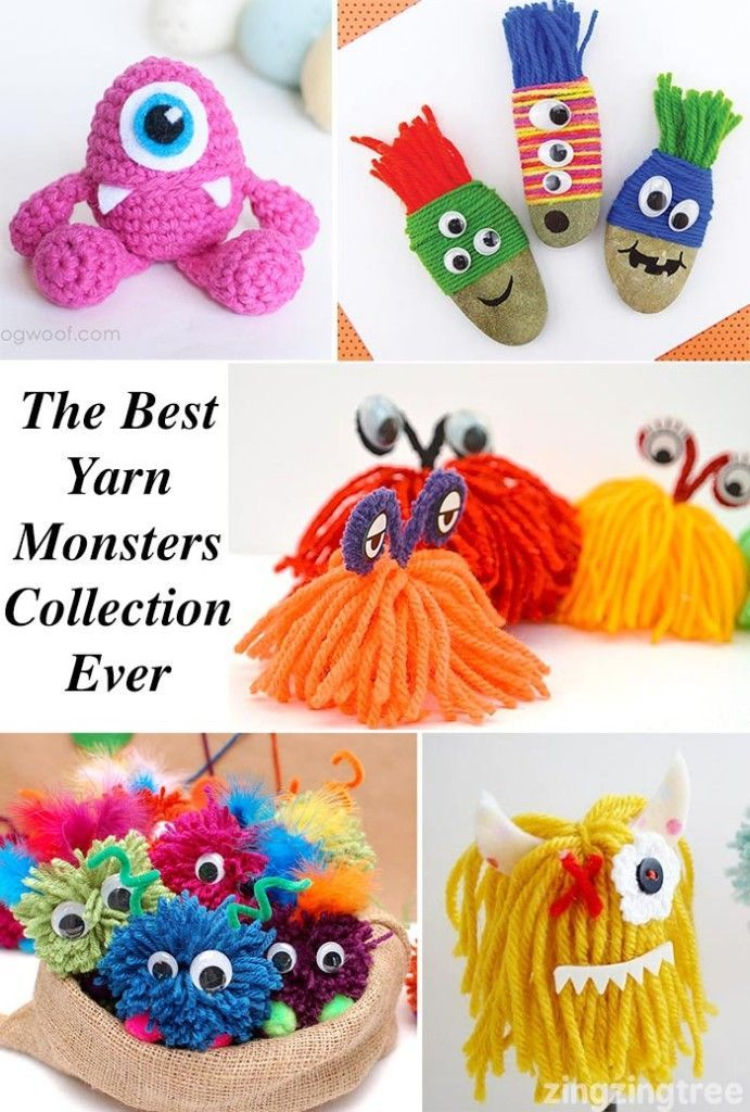 An amazing collection of yarn monster projects. Great for entertaining the kids on playdates and over the holidays