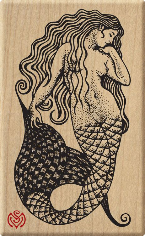 mermaid stamp by Meer Image