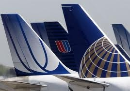 3 different paint jobs for United Airlines//yess flew for continental..now united,,sorta sad,,bye..bye continental..