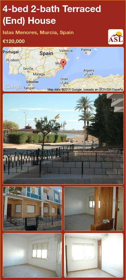 4-bed 2-bath Terraced (End) House in Islas Menores, Murcia, Spain ►€120,000 #PropertyForSaleInSpain