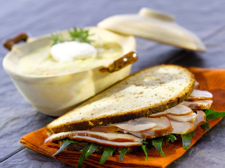 Brandt's Oven Roasted Turkey Breast on light rye. A whole Turkey Breast in it's natural form. Slowly smoked with natural hard wood. Lean and delicious a wonderful addition to a sandwich or sliced thinly and rolled to top off a salad.