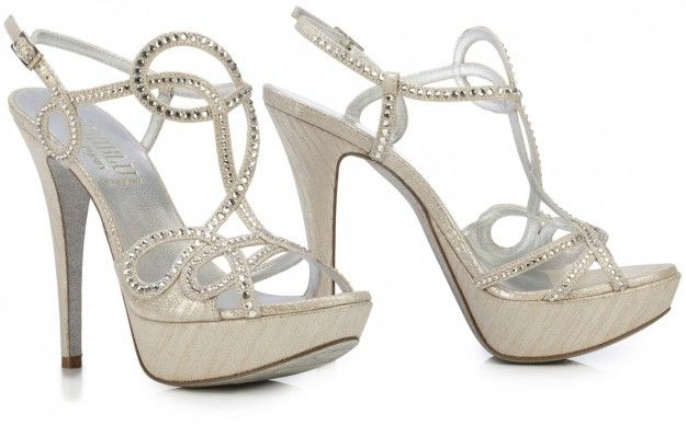 Sandali in camoscio stampato Loriblu argento