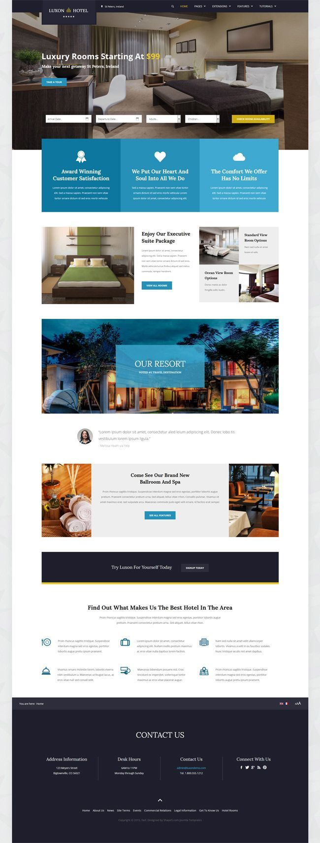 Shape5   Joomla Template   Luxon Is The Ultimate Hotel And Accommodations  Template. Showcase Off Your Resort Or Hotel In Style And With Great  Aesthetics.