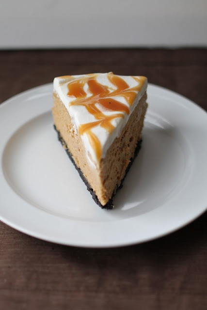 Caramel Cappuccino Cheesecake - I feel naughty just looking at this! Sounds so amazing though.