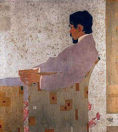 Schiele, Egon (1890-1918) - 1909 Portrait of the Painter Anton Peschka (Sotheby's London, 2001) by RasMarley on Flickr.