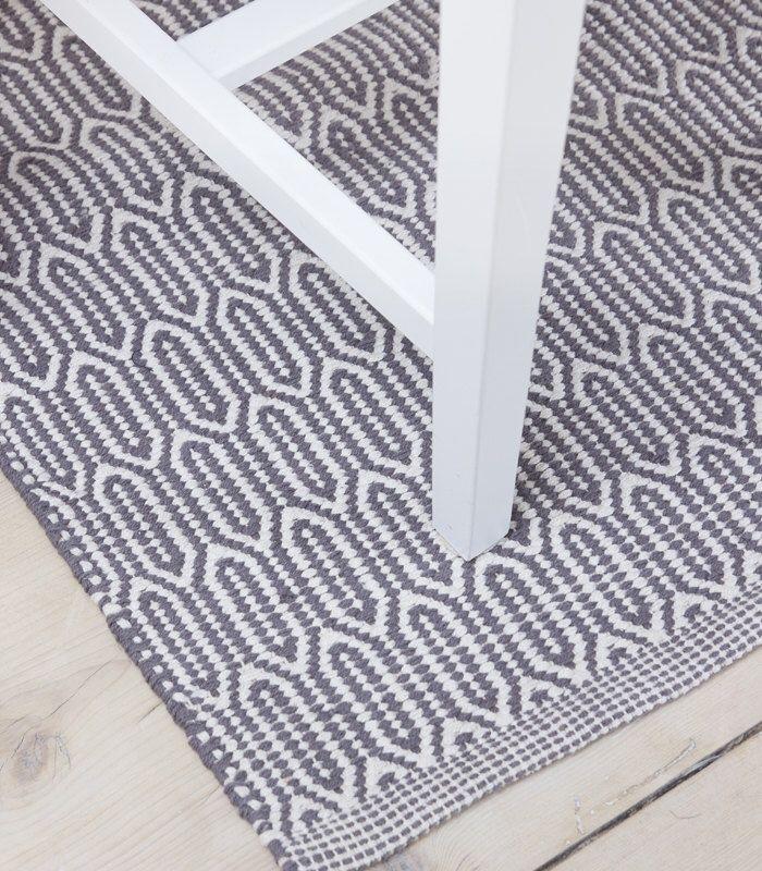 Scandinavian Patterned Grey Floor Runner U0026 Rug