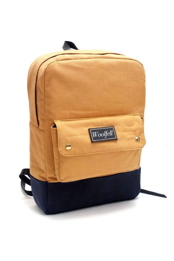 Woolfell Bags | Backpacks | Classic in Scarabee Des Sables – Handmade Montreal | Unique Products, Local Makers | EVERETT GRAY