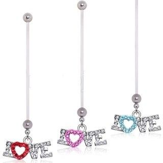 BioFlex Love Dangle Pregnancy Belly Ring