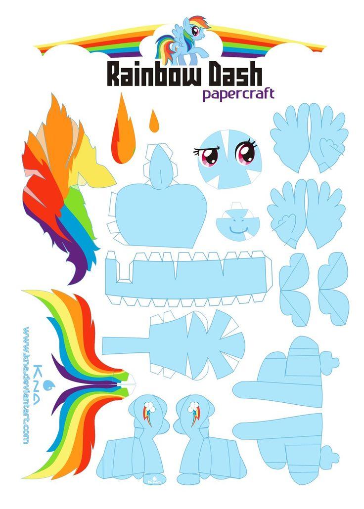 paper-pony Rainbow Dash
