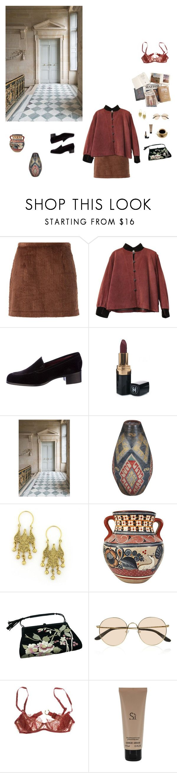 """""""Untitled #101"""" by cizinec ❤ liked on Polyvore featuring Opening Ceremony, Yves Saint Laurent, Tod's, Chanel, Trianon, 1928, Tom Ford, The Row, Damaris and Giorgio Armani"""
