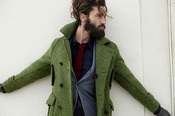 LOVE THAT GREEN COAT!!! L.B.M 1911 f/w 13 beard jacket hair fashion men tumblr Style steetstyle coat jacket