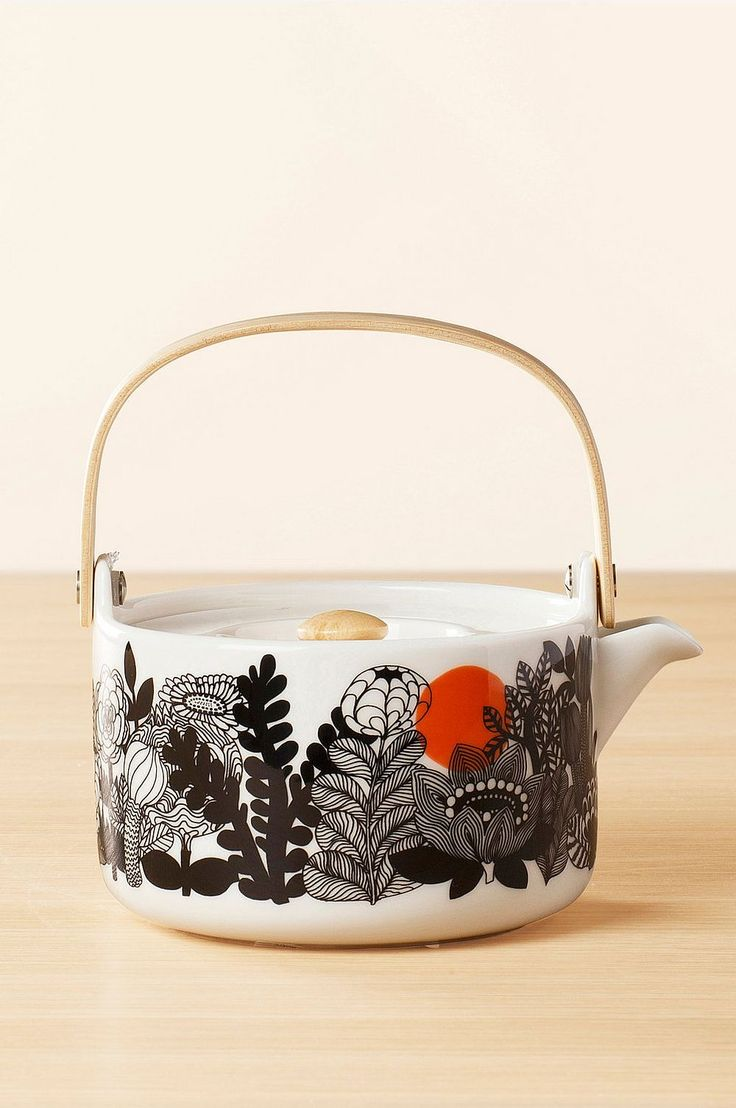 Marimekko Teapot Siirtoulapuutarha, 7 dl - Black - Home & Decor - Ellos.no