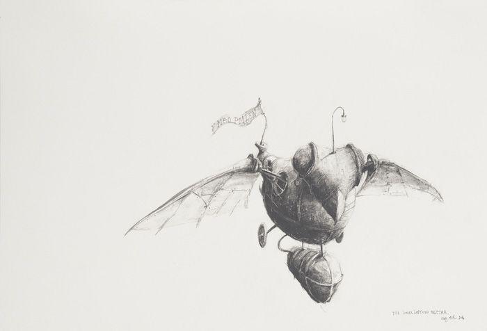 Craig Muller | Longer lasting nectar | Oil based pitt on paper (38 x 57cm) | www.art.co.za/craigmuller