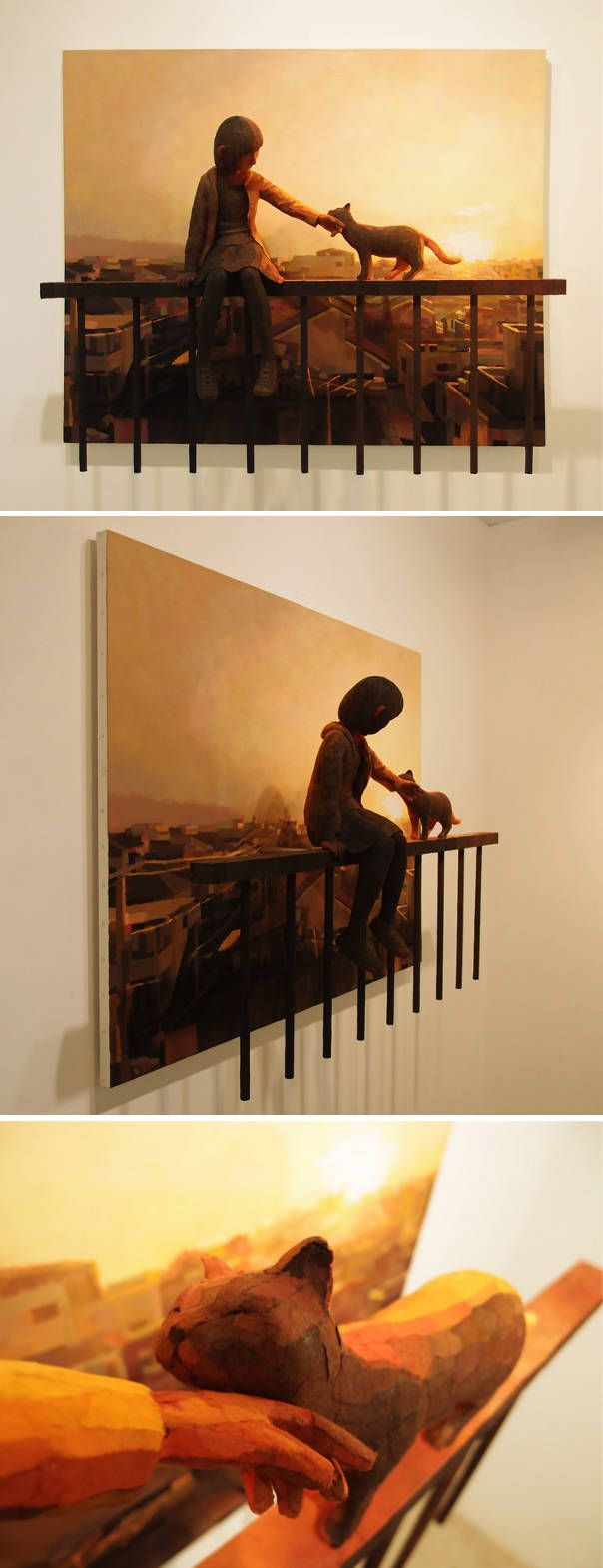 works that combine 2D and 3D by Shintaro Ohata