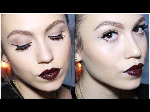 Makyaj Nasıl Yapılır Mor Dudak & Klasik Kuyruklu Eyeliner