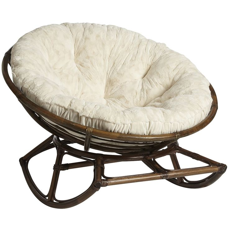 I love papasan chairs AND I love rocking chairs