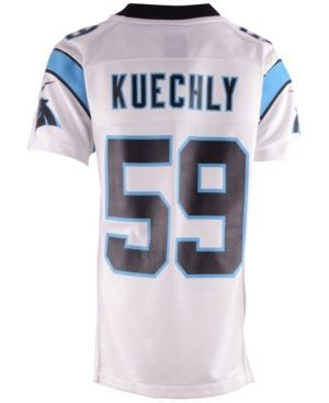 Nike Boys' Luke Kuechly Carolina Panthers Game Jersey  - White L