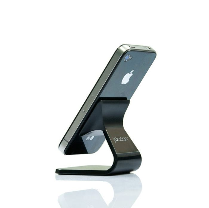 Free Shipping Car cell phone holder mount milo for iphone BlueLounge Design Milo Micro-Suction Stand for iPhone,black&white $15.99