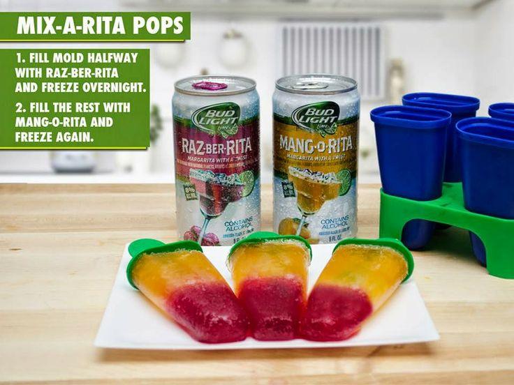 Bud Light Margarita Pops! These are surprisingly tasty!