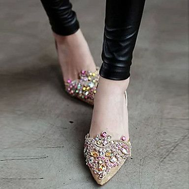 Women's Shoes Heels Pointed Toe Stiletto Heel Leather Sandals Shoes - USD $ 50.99