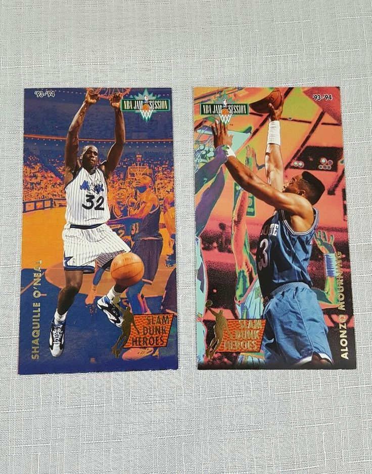 1993-94 Jam Session Slam Dunk Heroes Shaquille O'Neal and Alonzo Mourning