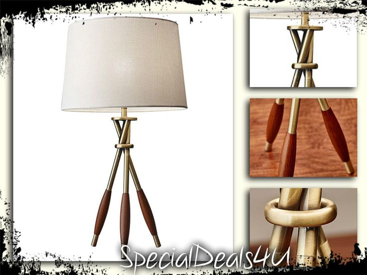 "Table Lamp Light Desk Vintage Shade Style Reading Lamps Modern Home Room 27"" New #ModernContemporaryMidCenturyTraditional"