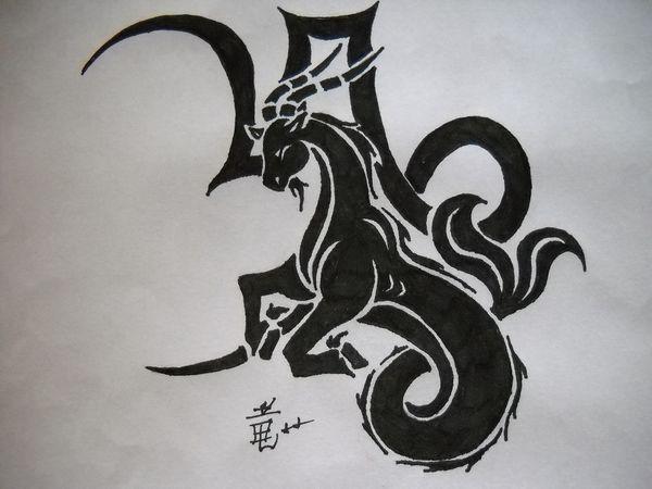 Capricorn Tribal Tattoo by DragonGirl-Lucky-13