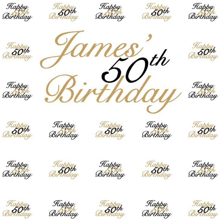 James 50th Birthday Step Repeat 5781