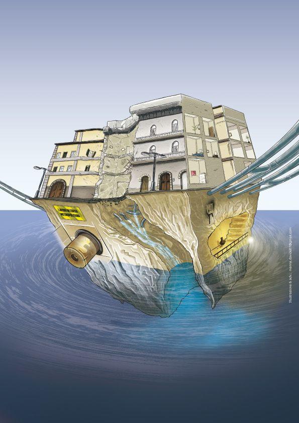 Napoli in 3Dimensioni: la città allagata by Davide Manna, via Behance