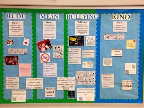 Rude mean bullying bulletin board