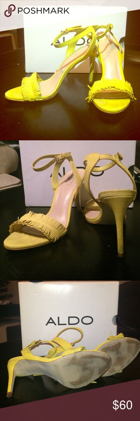ALDO Yellow Pumps These are gorgeous shoes but really not my style. I only wore them once as a bride's maid, then never again. Aldo Shoes Heels