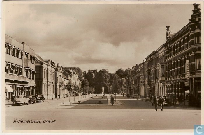 Breda - Willemstraat - 1954.