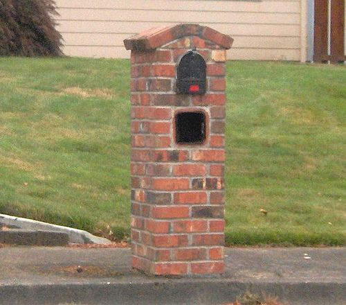 Best 25 brick mailbox ideas on pinterest stone mailbox for How much does it cost to build a brick house