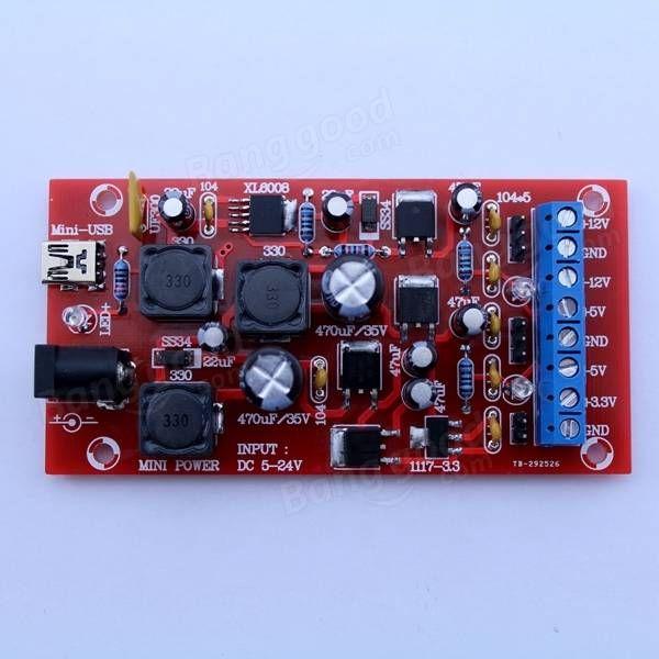 Original Hiland DIY USB Boost Single Turn Dual Power Linear Regulators Multiple Output Power Kit