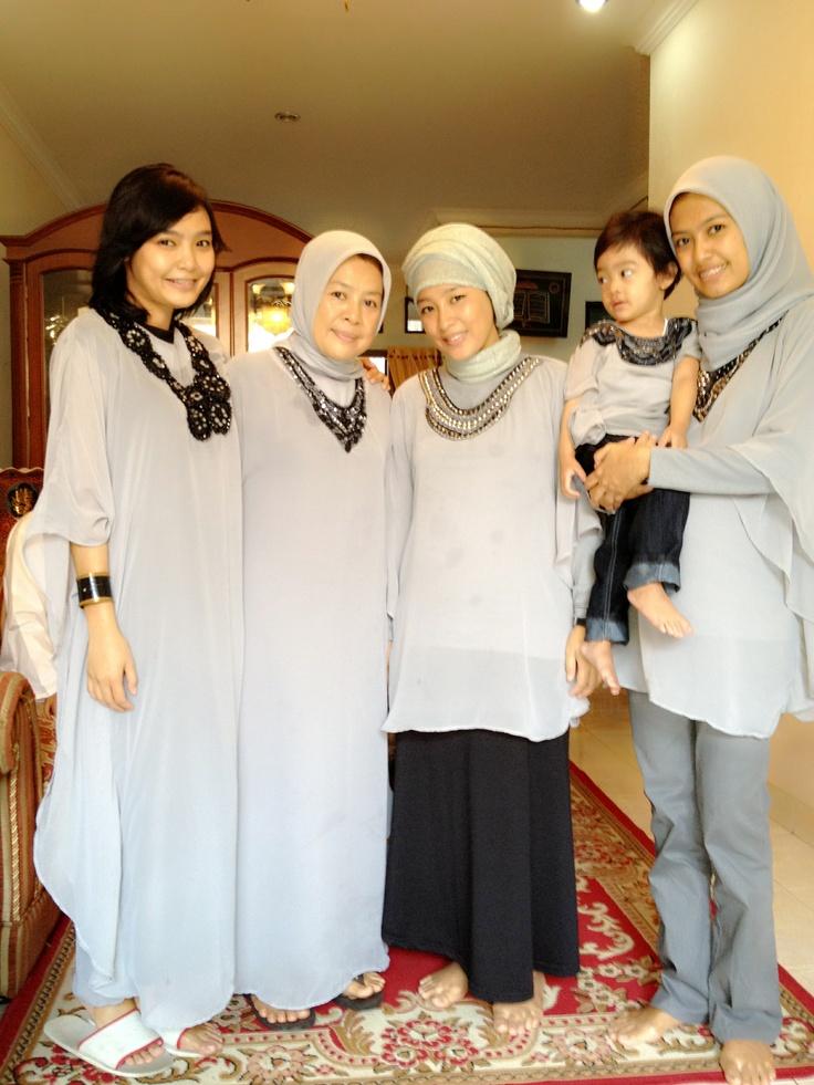 Grey in kaftan