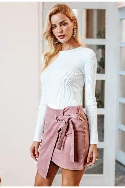 6005a538fed6 Asymmetrical split skirt | Products | Split skirt, Skirts, Suede skirt