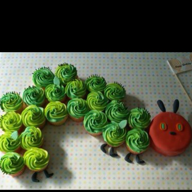 The Hungry Caterpillar! How cute is this for a kids party?!