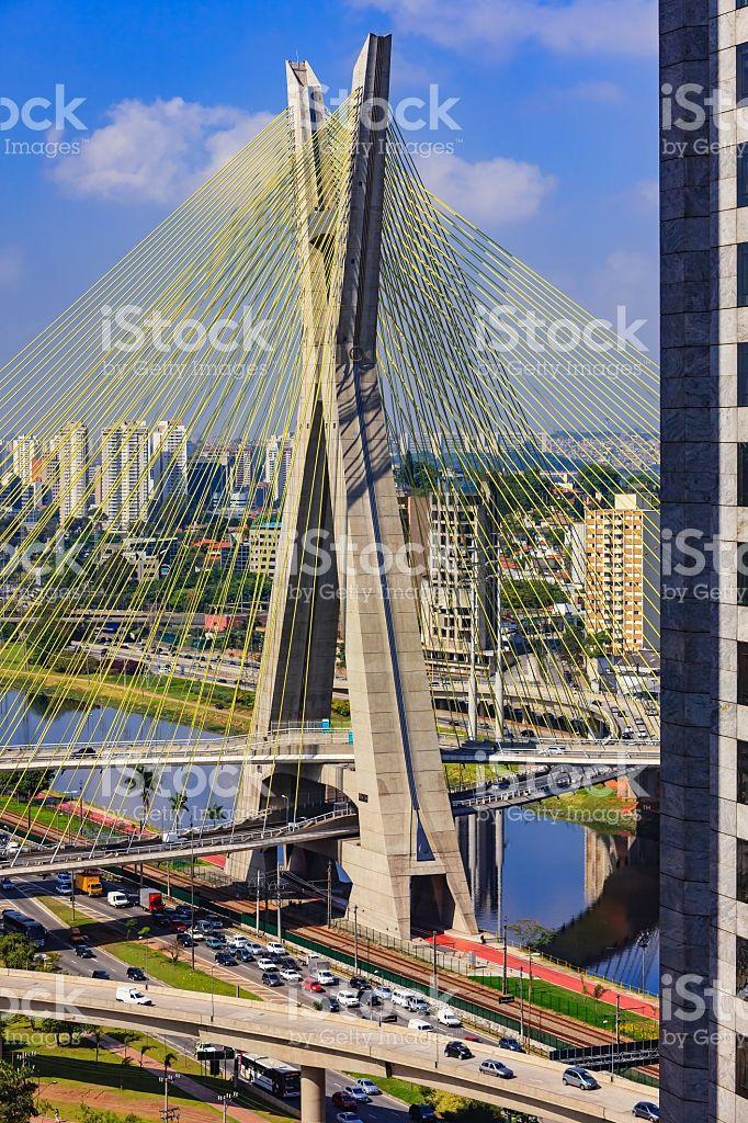 Sao Paolo, Brazil - Octavio Frias Suspension Bridge royalty-free stock photo