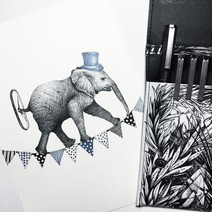 Surreal Animals Mostly Ink Drawings
