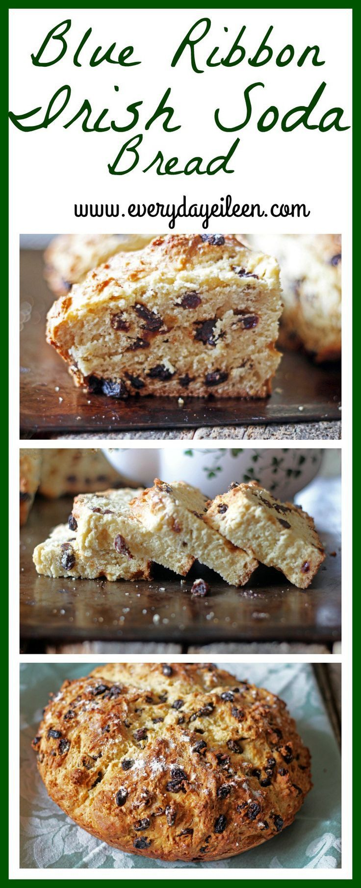 My Blue Ribbon Authentic Irish Soda Bread! This is a recipe I have been making for years. It has won many first place baking awards! An authentic soda bread perfect for any breakfast or Saint Patrick's Day celebration!