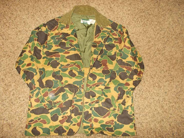 VTG-NEW Saf T Bak Frog Skin Hunting Camouflage Canvas Shooting USA Jacket Med