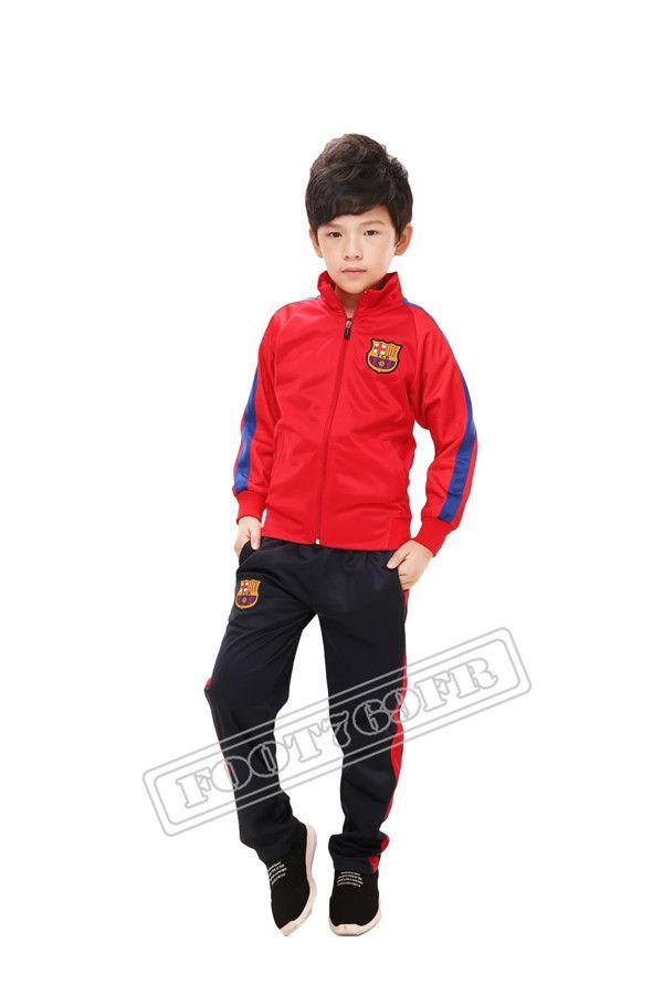 Nouveau: Veste de Foot Enfant kit FC Barcelone Rouge 2016 2017 | veste survetement