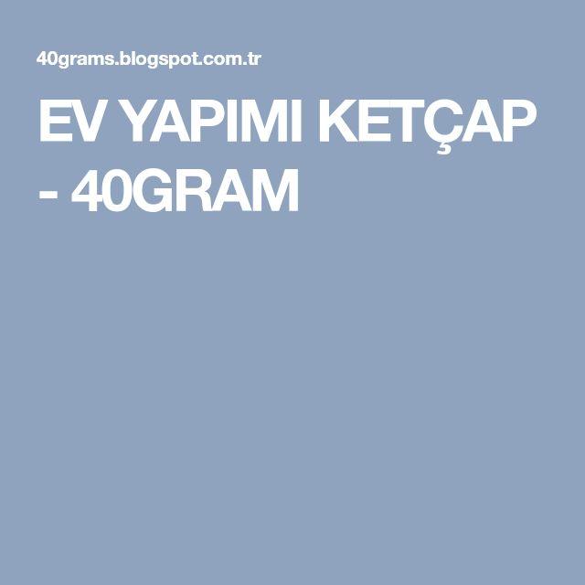 EV YAPIMI KETÇAP - 40GRAM
