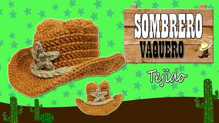 Sombrero Vaquero tejido a crochet    TODAS LAS TALLAS