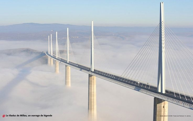 The Millau Viaduct in France, the tallest bridge in the world