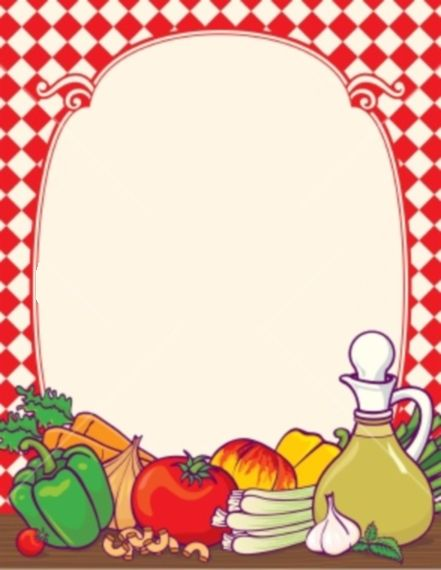 Food Menu Border | DECO ART | Pinterest | Fruits and ...