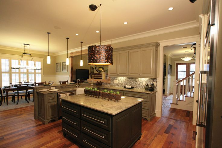499 best images about kitchen floor plans on pinterest for Kitchens with islands in the middle