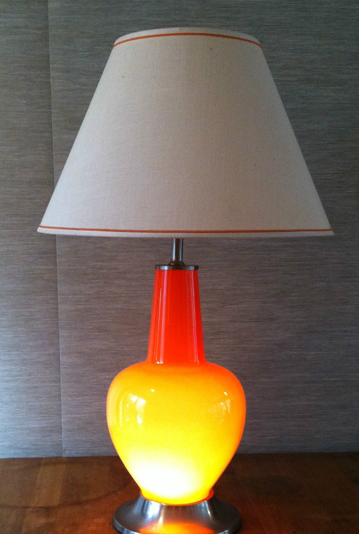 106 best vintage lamps images on pinterest 1950s candles and dallas atomic orange glass vintage lamp 125 los angeles httpfurnishly geotapseo Images