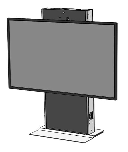 The LFT7000FS-XL heavy duty fixed lift for single XL TV's and interactive displays. Featuring a fixed weighted base ideal for open areas and digital signage. Ideal for environments where adjustable height or ADA is required.